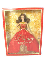 2014 Mattel Holiday Christmas Barbie Doll Brunette Collector Red Dress NEW - $34.64