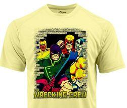 Wrecking Crew Dri Fit graphic Tshirt moisture wicking superhero comic SPF tee image 2