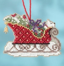 Evergreen Sleigh 2017 Charmed Sleigh Ride Ornaments cross stitch kit  Mill Hil - $7.20