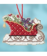 Evergreen Sleigh 2017 Charmed Sleigh Ride Ornaments cross stitch kit  Mi... - $7.20