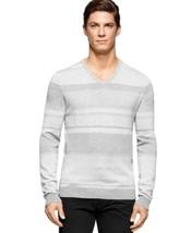Calvin Klein, Men's, Cotton Modal Twill Sweater, Soft Grey Heather, Sz. ... - $44.30