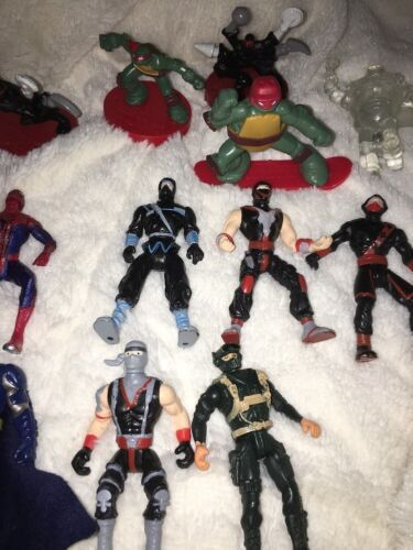 Mixed Super Hero Action Figure Lot Of 36 Marvel Ninjas Turtles Power Ranger WWE image 10