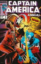 Mike Zeck SIGNED Marvel Comics Captain America Annual #8 Art Print ~ Wol... - $35.63