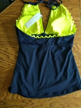 Ann Cole Navy Swimwear Top Size Large image 2