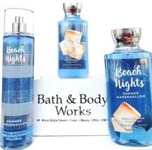 Bath and Body Works Beach Nights Body Lotion, Fine Mist, Shower Gel Set ... - $30.20