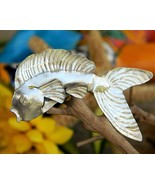 Fish Goldfish Aluminum Tin Sheet Metal Brooch Pin Hand Crafted Figural - $17.95
