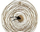 Metal Gold Wire Bird Nest Art Deco Home Decor Round Big Unique Wall Clock 20''