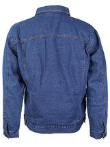 NYT Men's Classic Button Up Cotton Sherpa Trucker Denim Jean Jacket image 7
