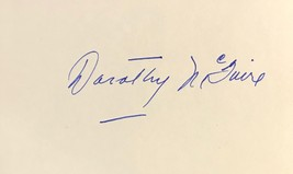Dorothy Mc Guire Signed Autographed 3x5 Index Card Friendly Persuasion w/COA - $14.99
