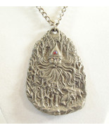 FATHER FROST Soul of Winter Pewter Pendant Necklace RAWCLIFFE Artist Sig... - $27.71