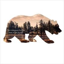 Bear Silhouette Steel Imagery Metal Wall Decor - $53.99