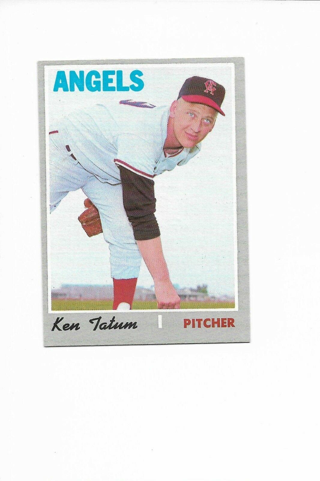 1970 Topps High Number #658 Ken Tatum, California Angels