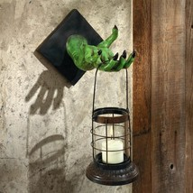 Zombie Lantern of the Apocalypse Wall Sculpture Ghoulish Halloween Decor... - $61.37