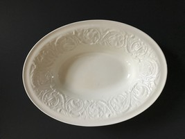 White Oval Wedgwood Etruia Porcelain Serving Bowl 10.5 Inches Long - $79.99