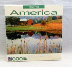 Midwest America Dairy Farm Wisconsin 1000 Piece Jigsaw Puzzle New Sealed - $9.74