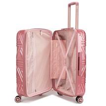 Badgley Mischka Contour Spinner Luggage Set (2-Piece) Black / Rose Gold ... - $158.39+