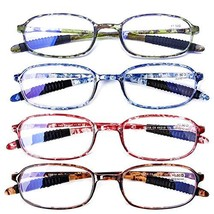 AQWANO 4 Pack Computer Reading Glasses Blue Light Blocking Lightweight T... - $32.42