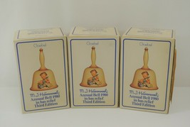 Goebel M.I. Hummel Annual Bell Lot of 3 Third Edition in Bas-Relief 1980... - $43.35