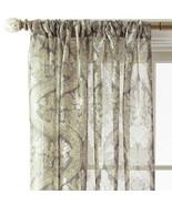 Royal Velvet Sheer Print Rod-Pocket Panel Opus Fawn 50 X 72 or 50 X 95 NIP  - $24.99