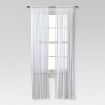 Chiffon Sheer Curtain Panel White - Threshold - $16.69