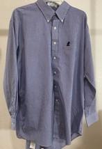 Walt Disney World Mens Shirt Size XL Blue White Check Cotton Mickey Mouse Flaw - $5.93