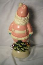 Vaillancourt Folk Art, 1950's PINK  Santa Collector Wknd personally signed Judi! image 3