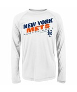 New York Mets Majestic Youth Boys Long Sleeve White Shirt M 10-12 NWT - $20.99