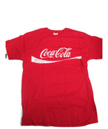 Coca-Cola Red Tee T-Shirt with Distressed White Logo  Extra Large 100% C... - $13.37