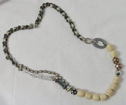 Ann Taylor Loft Eclectic Single Strand Necklace Baubles and Beads - $12.86