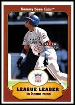 2001 Fleer Tradition #391 Sammy Sosa NM-MT Chicago Cubs - $1.25