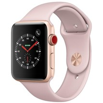 Gold Apple Watch Series 3 GPS + Cellular with Pink Sand Sport Band - 38mm - $494.01