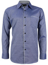 LW Men's Western Button Up Long Sleeve Designer Dress Shirt image 3