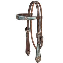 Weaver Horse Headstall Savannah Browband Brown Vintage Styling U-0420 - $231.61