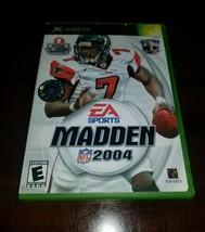 Madden NFL 2004 Microsoft Xbox EXMT **Inv03174** - $4.62