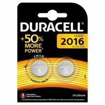 2 x Duracell CR2016 3V Lithium Coin Cell Battery 2016 DL2016 BR2016 Expiry 2028 - $2.80