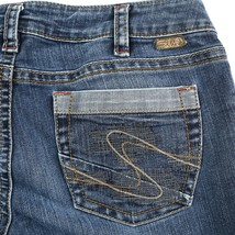Silver Aiko Dark Wash Low Rise Flare Stretch Denim Jeans Womens 30 Hemme... - $24.66