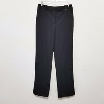 Larry Levine Womens Dress Pants Size 8 (30 Inseam) Black Slacks Front Zi... - $23.25