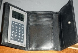Wallet Trifold with Calculator and World time - $9.95