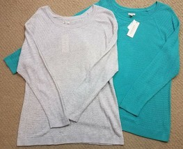 Sonoma Womens Plus Size Textured Weave Sweater SOFT Long Sleeve 1X NWT - $14.99