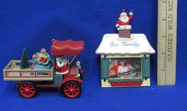 1993 Hallmark Keepsake Our Family Frame & Happy Haul-idays Truck Ornaments Lot 2 - $12.86