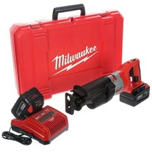 Cordless Reciprocating Saw 28 Volt w/ Two 3.0Ah Batteries Charger Hard C... - $496.49