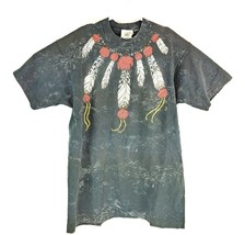 VTG Buffalo Native American Men's All Over Print Stipple Neck Dress T-Sh... - $47.52