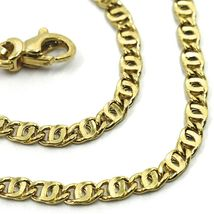 "18K YELLOW GOLD CHAIN WAVY TYGER EYE LINKS 2.8mm, 0.11"" LENGTH 50cm, 19.7"" image 2"