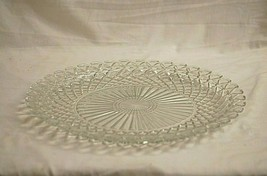 """Waterford Clear by Anchor Hocking 14"""" Sandwich Platter Waffle Design Depression - $69.29"""
