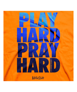 "Christian Mens T-Shirt ""PLAY HARD"" by Kerusso -... - $17.99 - $19.99"