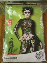 Sexy New Sugar Skull Cat One Piece Long Sleeve Halloween Party Costume M... - $36.00
