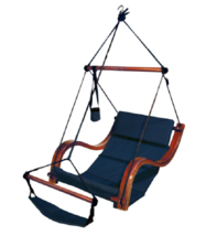 Outdoor Hammock Swing Outdoors Porch Swings Air Chair Padded Hanging Tre... - £138.04 GBP