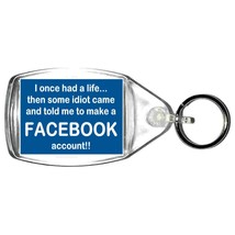 facebook account keyring double sided  design, keychain