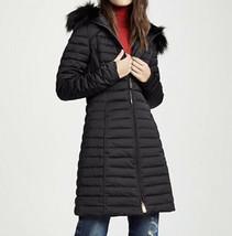 NWT Hunter Boots Women's Refined Down Coat Faux Fur Hood Black Size M $475 - $323.30