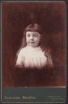 Louise Helen Frost Cabinet Photo of Pretty Little Girl - Clinton, Massac... - $17.50